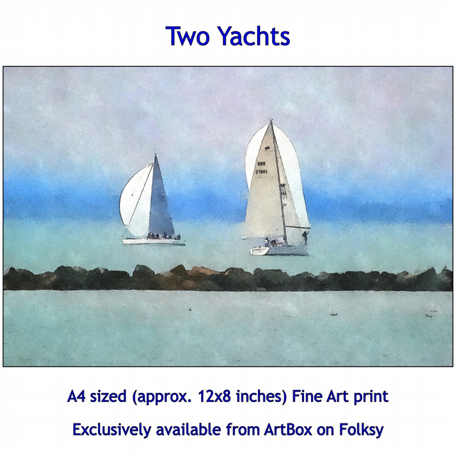 Two Yachts  - Quality Fine Art Print