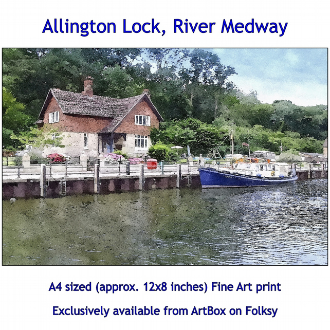 Allington Lock, River Medway  - Quality Fine Art Print