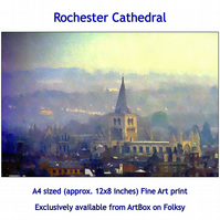 Rochester Cathedral - Quality Fine Art Print