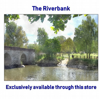 The Riverbank - A4 sized Fine Art landscape print