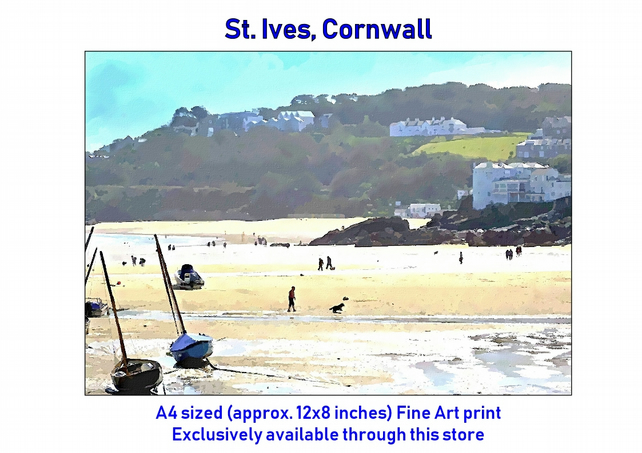St. Ives, Cornwall - Exclusive Fine Art print