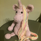 "Crochet Unicorn 17"" tall"