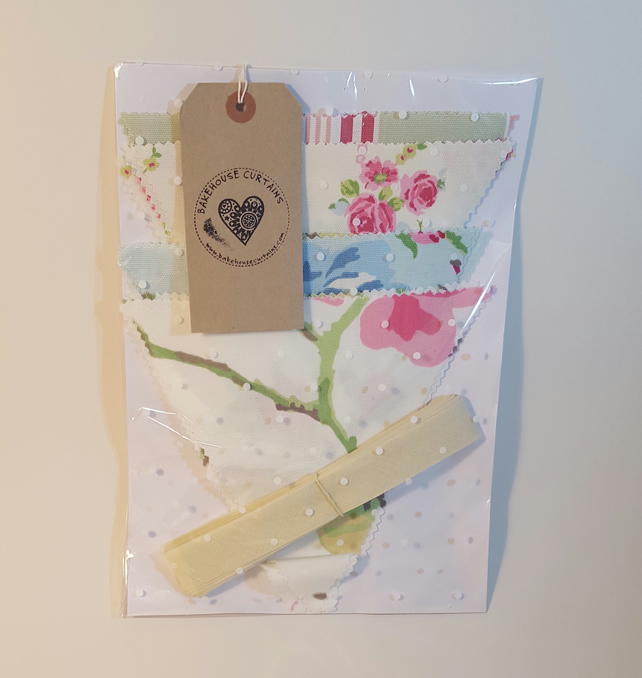 Make-your-own lovely Cotton Bunting Kit