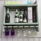 Rustic style wine and glass rack