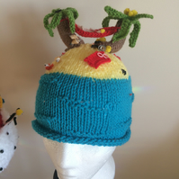 LIFES A BEACH festival knitted hat