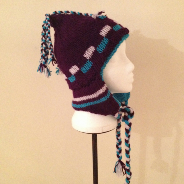 PURPLE FESTIVAL TRAPPER HAT