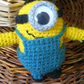 Cute high quality hand made knitted minion toy