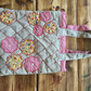 Handmade quilted  and lined appliqué shopper bag