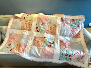 The Emma quilt - shabby chic pink and blue florals