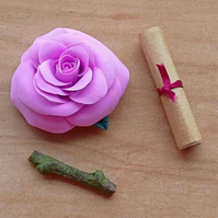 Personalised lavender pink rose