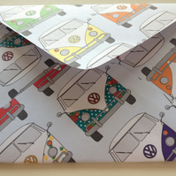 Vintage Style VW Camper Van Design Envelopes Handmade Set of 5