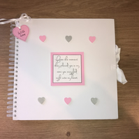 Handmade Personalised Baby Girl Scrapbook, Photo Album, Memory Book