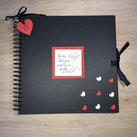 Handmade Personalised 'Be The Change' Scrapbook, Photo Album, Memory Book, Gift