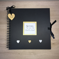 Handmade Personalised Sisters Scrapbook, Photo Album, Memory Book