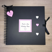 Handmade Personalised Wedding Plans Scrapbook,  Memory Book, Gift