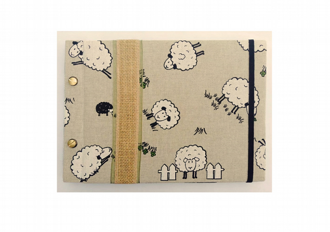 Field of Sheep Photo Album B5 Hand Made Refillable