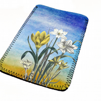 Watercolour flower art kindle & e reader soft sleeve for all kindle models