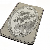 Vintage style horses kindle & e reader soft sleeve for all kindle models