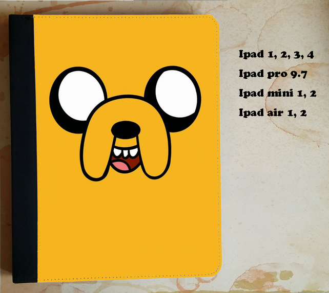 Adventure Time Jake flip case for the ipad, ipad pro, ipad mini
