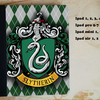Harry Potter Slytherin flip case for the ipad, ipad pro, ipad mini