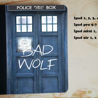 Doctor who tardis bad wolf flip case for the ipad, ipad pro, ipad mini
