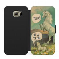 Funny Unicorn flip case for iphone 4,5,6,7,8 Samsung S3,S4,S5,S6,S7,S8 S9
