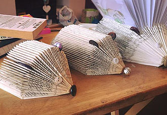 Family of Hogs - Book ends- Letter Organiser- Ornament