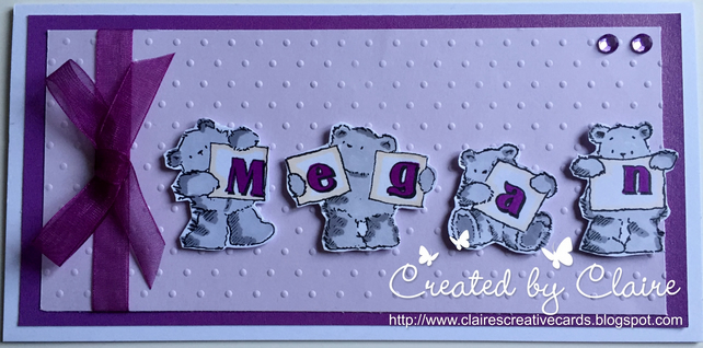 HANDCRAFTED PERSONALISED ANY OCCASION CARD - MEGAN