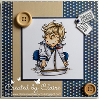 HANDCRAFTED MALE BIRTHDAY CARD - SAILOR BOY