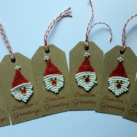 PACK OF 6 FATHER CHRISTMAS GIFT TAGS