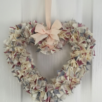SCANDINAVIAN STYLE PASTEL COLOURED HEART WREATH