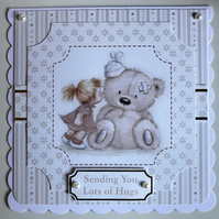 HANDCRAFTED GET WELL CARD - NEUTRAL TONES