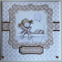 HANDCRAFTED KEEP IN TOUCH CARD - NEUTRAL TONES