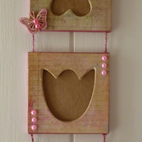 HANDCRAFTED MACHE TRIO HANGING PHOTO FRAME