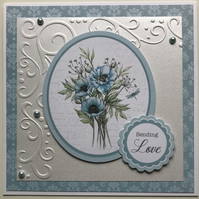 HANDCRAFTED SENDING LOVE CARD