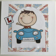 HANDCRAFTED MALE YOU'VE PASSED YOUR DRIVING TEST CARD