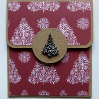 HANDCRAFTED CHRISTMAS TREE GIFT CARD HOLDER