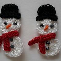 Set of 2 Crochet SnowMan