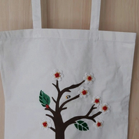 TOTE Bag- Shopping- Re-Usable- Cotton Bag - Summer Bag