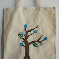 Forget me Not TOTE Bag l- Shopping Bag- Gifts- Re-Usable bag- Summer Bag