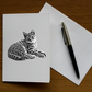 Relaxing Kitty (Pack of 5 Greeting Cards)