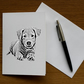 Cuddly Puppy (Pack of 5 Greeting Cards)