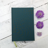 Forest green hardback notebook