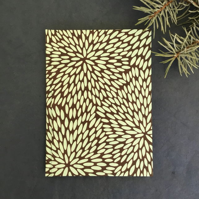 Chocolate chrysanthemums - A6 unlined notebook