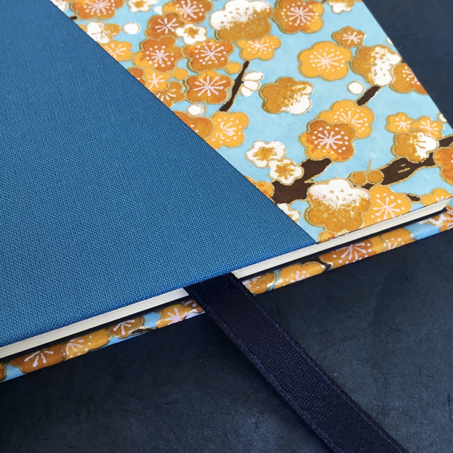 Blue Sakura - A5 lined notebook