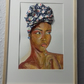 African headwrap portrait art
