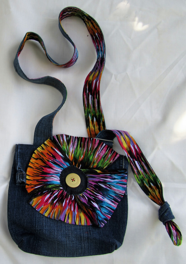 Large Flower Girls Bag