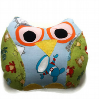 Frogs and Astronauts- Handmade stuffed owl