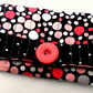 Crazy Polka Dot, Handmade Snap Pouch: Snap Wallet: Tissue Pouch