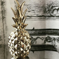Stunning Gold Ceramic Pineapple Ornament